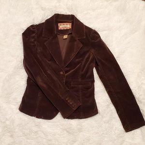 Abercrombie & Fitch brown suede blazer